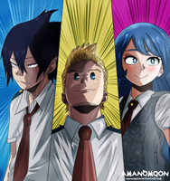 My hero Academia Boku hero Big Three Anime Mirio by Amanomoon