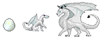 White dragons in dragoncave style by FuriarossaAndMimma