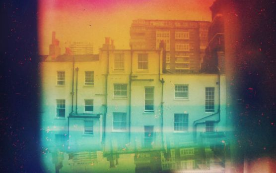 a slightly dystopian colourful world by bowany