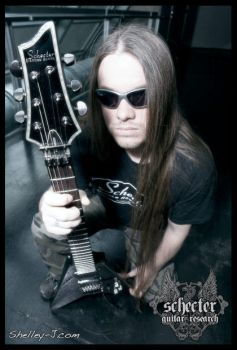 Richard Ebisch for Schecter by metalpics