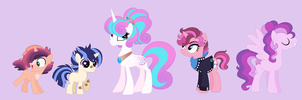 Spritzverse: ShiningDenceBurst family by Strawberry-Spritz