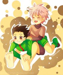 -- Gon X Killua Commission for PlaymakerM19 -- by Kurama-chan