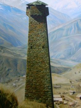 Watchtower in Haskali, Chechenia by Mulqland