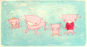 Paper Piggies by MadSketcher