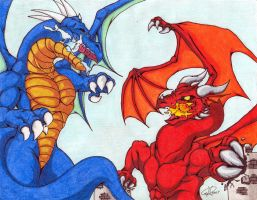 Ice vs Fire 'colored' by ShinFox