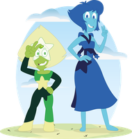 Lapis and Peridot Crystal Gems by AlexDTI