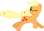 Running Applejack by Silentmatten