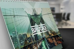 Desk Calendar Mock-Up by Itembridge