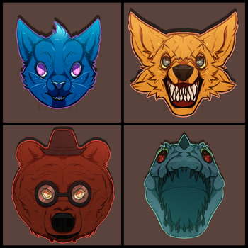NIGHT IN THE WOODS HEADSHOTS by Boo-Tay