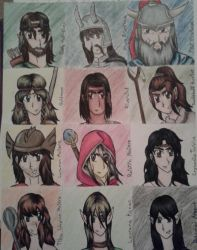 Dragonlance character headshots by dawnflower8