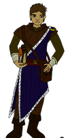 DnD character: Young wizard by Ikhael