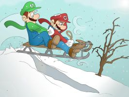 A Sled Ride with Mario by RussianSkipper74