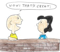Charlie Brown and Lucy - WOW THAT'S GREAT by dth1971