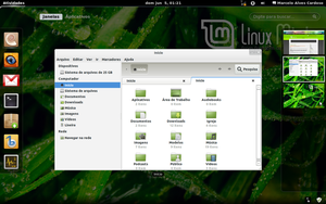 Gnome 3 in Linux Mint-4 by malvescardoso
