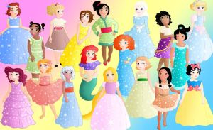 All the little princesses by Willemijn1991