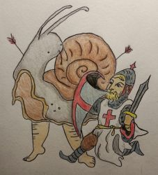 Anglo Saxon Snail Fighting Knight by LadyWo1f