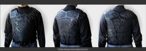 Mens Biker Vest by Darvyar