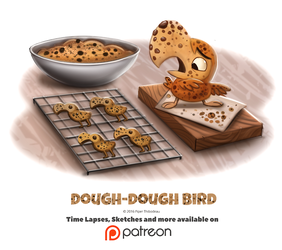 Day 1392. Dough-Dough Bird by Cryptid-Creations