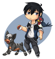 Pokemon Trainer Kageyama by ThatWildMary