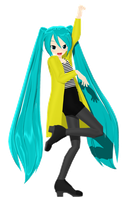 Lazy Miku DOWNLOAD by Razz-Pixel