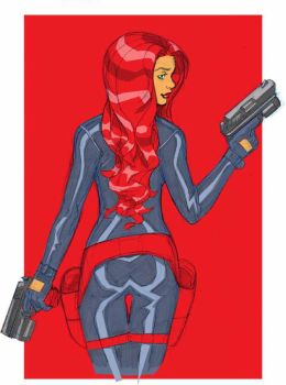 WOMAN IN RED by Wieringo