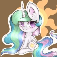 Chibi Celestia by FelicityDraws