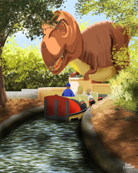 Dinos at the Zoo by Steventon