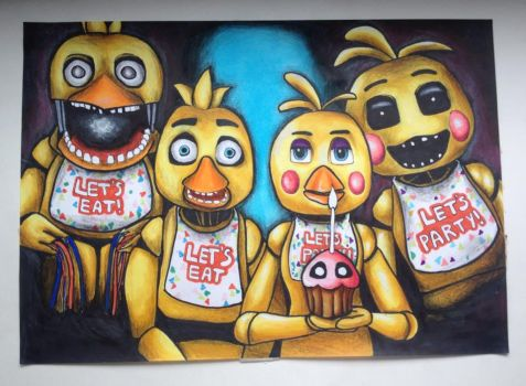 Every Chica has a dark side by LaraWegenaerArts