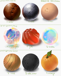 Material Studies by ZombieCeli