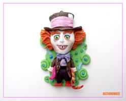 Mad Hatter clay Charms by buzhandmade