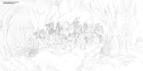 The Faery Host sketch by puimun