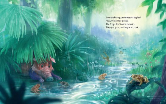 Mayumi the Forest Pig [Sample Spread] by IngridTan