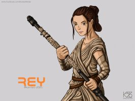 Rey from Star Wars by Kavizo by KAVIZO