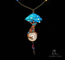 Tree  of Time Pendant by Maximilien-Serpent