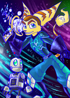 Colourful Galaxy Duo by Strixic