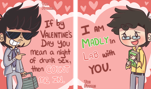 Valentine's Day Bruce and Tony Cards by ecokitty