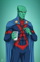 Martian Manhunter (Earth-27) commission by phil-cho