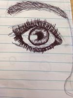 A Beautiful eye drawn by my friend jasmine!!! by briethebee