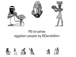 egyptian brushes people by dandellionstock