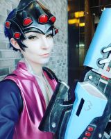 Widowmaker Cosplay Selfie by WhiteSpringPro