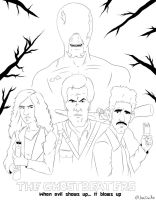 Ash vs Evil Dead: The Ghostbeaters (WIP) by Jaxillustrations