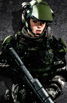 UNSC Female Tactical Marine by LordHayabusa357