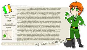 Character Profile - IRELAND by talentless-art