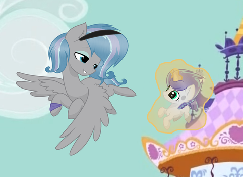 MLP Fly with lil Bro by AniaKucyk