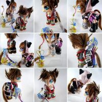KH3 Sora and Kairi collectible ponies by LightningSilver-Mana