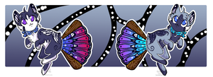 Panfan Adopts - Butterfly themed - OPEN by JB-Pawstep