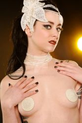 Couture Pearl Necklace Pasties by gothfox