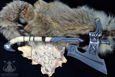 Skyrim Nordic War Axe by NappinKraken