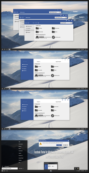 Facebook Theme For Windows 10 by Cleodesktop