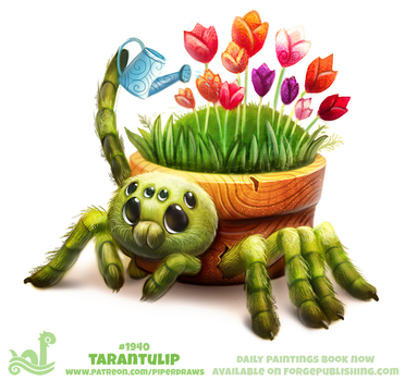 Daily Paint 1940# Tarantulip by Cryptid-Creations
